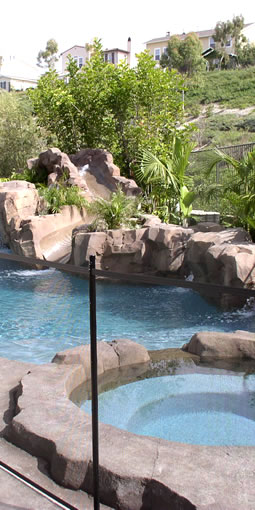 Rock Pool With Safety Fencing. Mission Viejo, Orange County